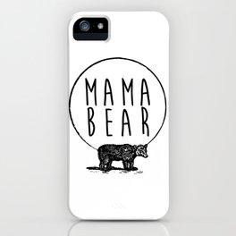 Mama Bear, Bear and Circle Moon Graphic iPhone Case