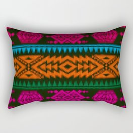 Ethnic Knitted pattern Rectangular Pillow