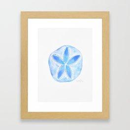 Mermaid Currency - Blue Sand Dollar Framed Art Print