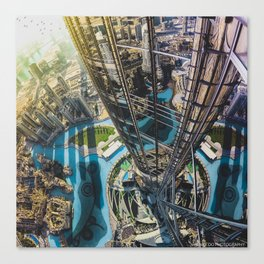 Dubai from the tallest building in the world Canvas Print