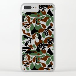Dachshund  Camouflage Clear iPhone Case