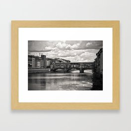 The Ponte Vecchio in Florence Framed Art Print