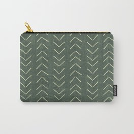 Mudcloth Big Arrows in Leaf Green Carry-All Pouch