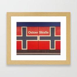 Berlin U-Bahn Memories - Osloer Straße Framed Art Print