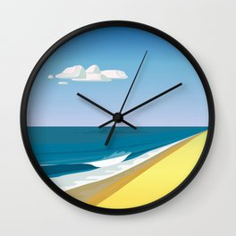 Rothko at the Beach Wall Clock