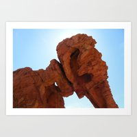 Elephant Rock Art Print
