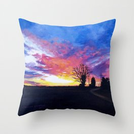 Delta Flames Throw Pillow