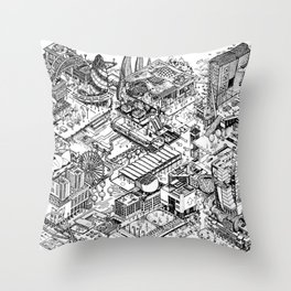 ARUP Fantasy Architecture Throw Pillow