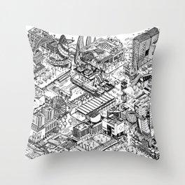 ARUP Fantasy Architecture Throw Pillow