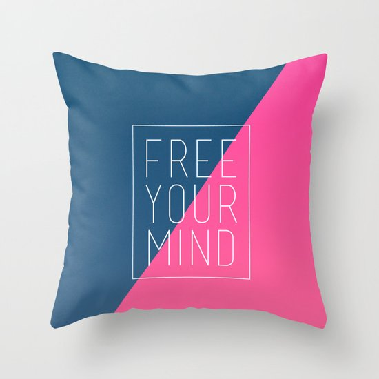 Free Your Mind III Throw Pillow