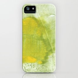 Green abstract aquarelle painting iPhone Case