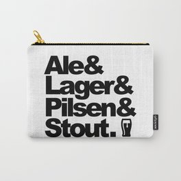 Ale and Lager and Pilsen and Stout Carry-All Pouch