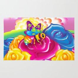 1997 Neon Rainbow Beelzebub Rug