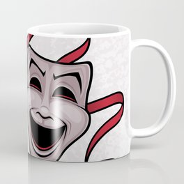 Comedy And Tragedy Theater Masks Coffee Mug