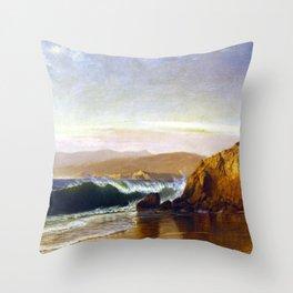 Golden Gate Coastal landscape by Gilbert Munger Throw Pillow