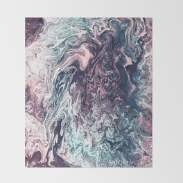 Fantasy Marble Throw Blanket
