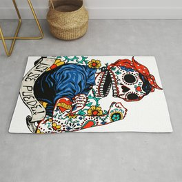 We Can Do It Skull Rug