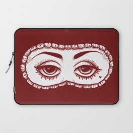 These Eyes - Red Laptop Sleeve
