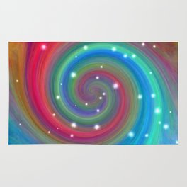 Colored Swirl in the Sky Rug