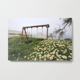 Abandoned Playground in Greece Metal Print