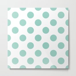 Gone Dotty Spotty - Geometric Orbital Circles In Pale Spring Fresh Green on White Metal Print