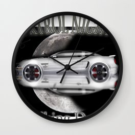 American cars - Legendary White Mustang Wall Clock
