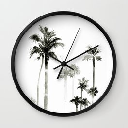 Shadow palms Wall Clock