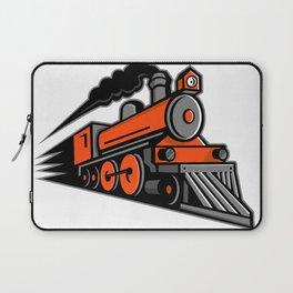 Steam Locomotive Speeding Mascot Laptop Sleeve
