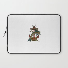 Dolphin with anchor and rope Laptop Sleeve