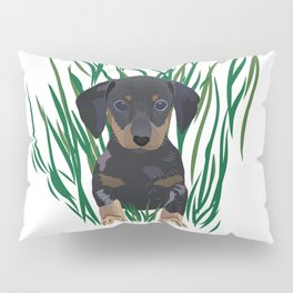 Sausage Dog Design Pillow Sham