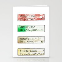 1984 Stationery Cards featuring Ministerios 1984 by Jorge Soriano