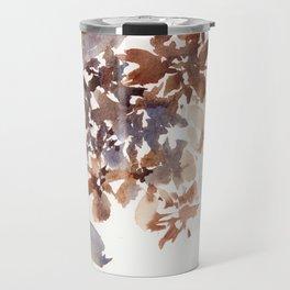 Autumn leaves watercolor art Travel Mug