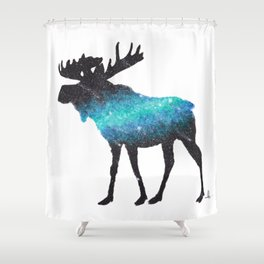 space moose Shower Curtain