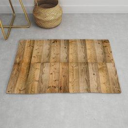 Wood Planks Dark Rug