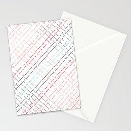pastel grid pattern doodle Stationery Cards