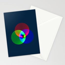 Red Green Blue Light Color Model Lines Stationery Cards