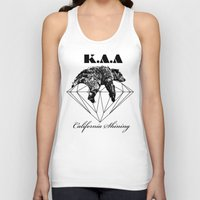 the shining Tank Tops featuring California shining by Kris alan apparel