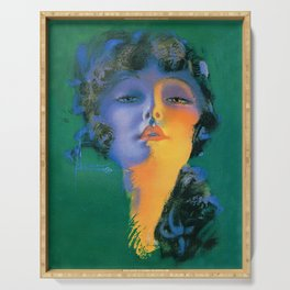 """Girl of My Dreams"" Pinup by Rolf Armstrong Serving Tray"
