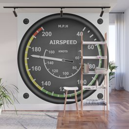 Airspeed Flight Instruments Wall Mural