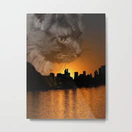 Maine Coon over New York Metal Print