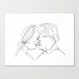 It was their first kiss Canvas Print