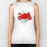 racing Biker Tanks featuring Racing by Ezgi Kaya