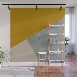 MUSTARD NUDE GRAY GEOMETRIC COLOR BLOCK Wall Mural