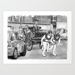 Carriage Ride Art Print