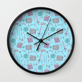 Dungeons and Dragons (blue) Wall Clock