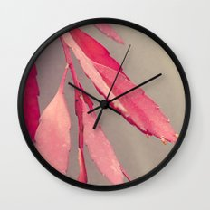 Red Cactus Wall Clock