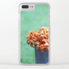 Orange Lilies Clear iPhone Case
