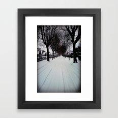 Urban Winter Framed Art Print