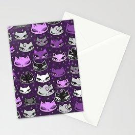 Purple Rockabilly Cats Stationery Cards