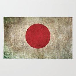 Old and Worn Distressed Vintage Flag of Japan Rug